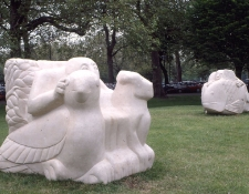 1991-in-the-beginning-2-x-limestone-sculptures-150cm-high-finally-placed-in-doddington-rollo-estate-battersea